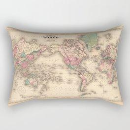 1861 World Map - Johnson's World on Mercators Projection Rectangular Pillow