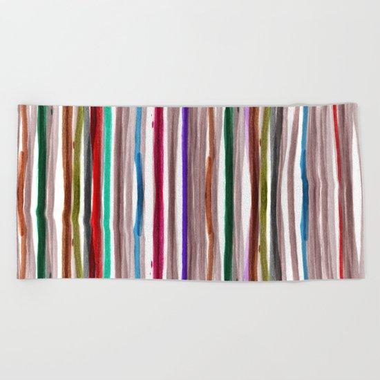 Rainbow Stripes 2 Beach Towel