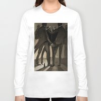 kafka Long Sleeve T-shirts featuring Kafka by Cory Michael Ecker