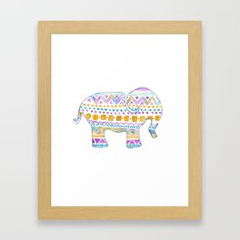 boho elephant Framed Art Print