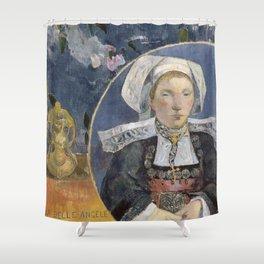 La Belle Angele by Paul Gauguin Shower Curtain