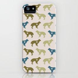 Valentine's dog surface pattern iPhone Case