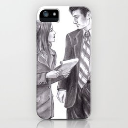 The skeptic and the believer iPhone Case