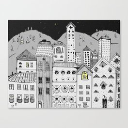 stuck in the city Canvas Print