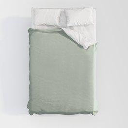 Light Sage Green Solid Duvet Cover
