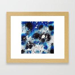 Starry Night (nail polish art) Framed Art Print