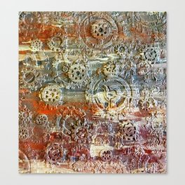 Mechanical Gear Abstract Canvas Print