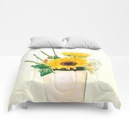 sunflower arrangement Comforters