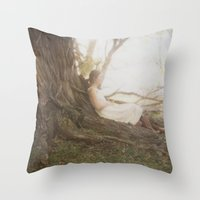 chill Throw Pillows featuring Chill by Kristine Ridley