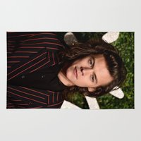 harry styles Area & Throw Rugs featuring Harry Styles by behindthenoise