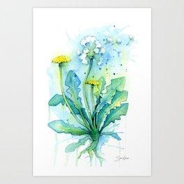Dandelion Kunstdrucke