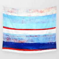 stripes Wall Tapestries featuring Stripes by T30 Gallery