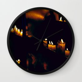 Temple Candles Wall Clock