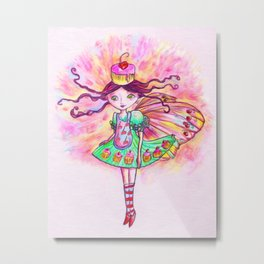 Cupcake Fairy Metal Print