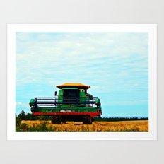 Harvester on the Ridge Art Print