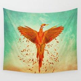 Phoenix Rising -Mixed media Wall Tapestry