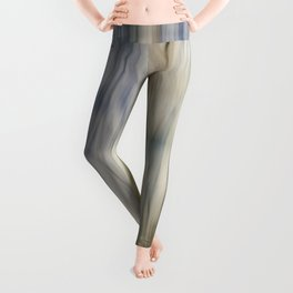 Soft Blue and Gold Abstract Leggings