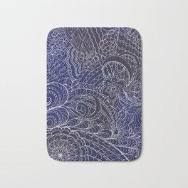 transparent white zen pattern dark blue gradient Bath Mat