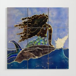 Lady of the Atlantic Crossing Wood Wall Art