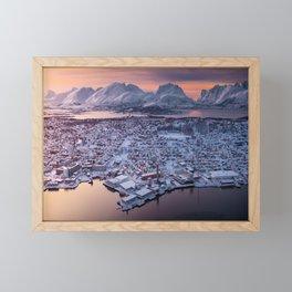Sunset from Norway Framed Mini Art Print