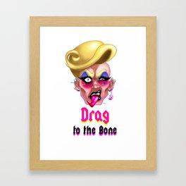 DRAG TO THE BONE Framed Art Print