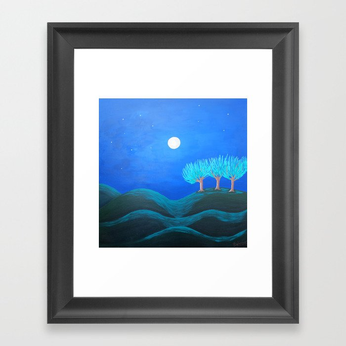 Peaceful Night Framed Art Print