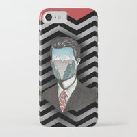 dale cooper iPhone & iPod Cases featuring Agent Dale Cooper by Ryan M Whiteley