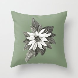 Florida Flower with Green Background Throw Pillow