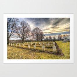 World War 2 War Graves Budapest Art Print