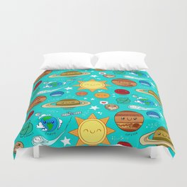 Planet party Duvet Cover