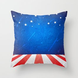 American background with space Throw Pillow