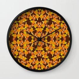 On Brown Wall Clock