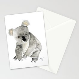 Koala Watercolor. Stationery Cards