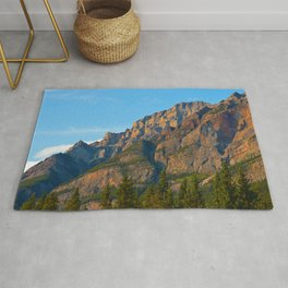 Mt. Kerkeslin in Jasper National Park Rug