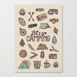 Lets Go Camping Canvas Print