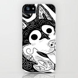 Kawaii Husky Ecopop iPhone Case