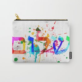 Shalom Hello Goodbye Carry-All Pouch