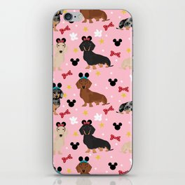 Dachshund theme park lover dog breed wiener dog gifts iPhone Skin