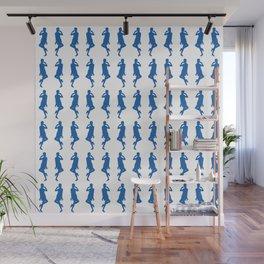 Denim Blue Bold Mod GoGo Girls Wall Mural