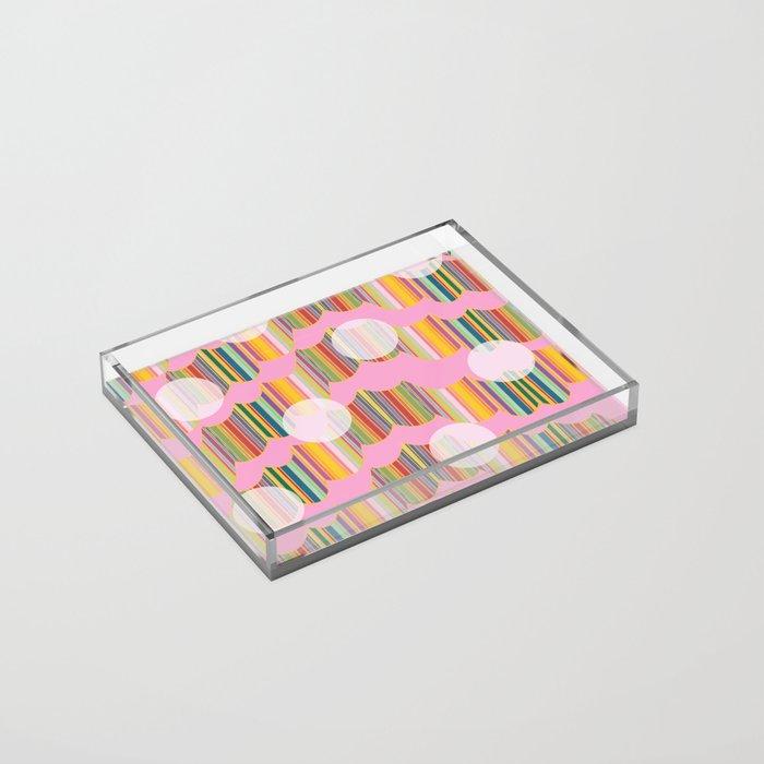 New Wavey Pink Polka Acrylic Tray
