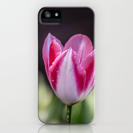 White & Pink Tulip iPhone Case