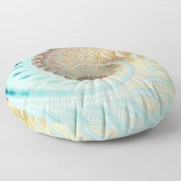 Vanilla Swirl - Fractal Art  Floor Pillow