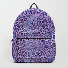 Purple Leopard Print Backpack