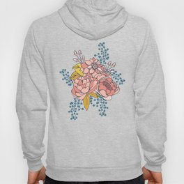 Moody Florals - Blue + Pink Hoody