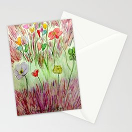 Poppies and Lavender Stationery Cards