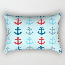 Four Anchors Rectangular Pillow