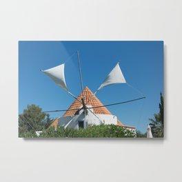 Windmill house, Portugal Metal Print