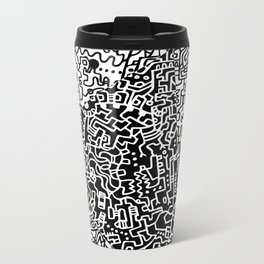 Cell Art Metal Travel Mug