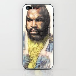 B.A. Baracus or Mr. T from the A-Team by Aaron Bir iPhone Skin