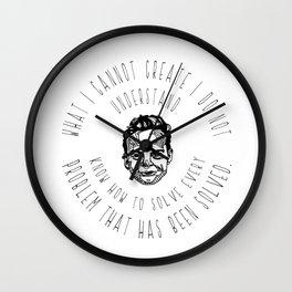 Richard Feynman Quotes Wall Clock